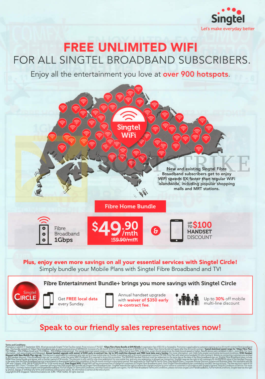 COMEX 2016 price list image brochure of Singtel Fibre Home Bundle 49.90 1Gbps