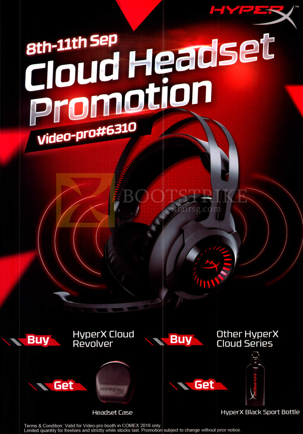COMEX 2016 price list image brochure of Video-Pro HyperX Cloud Headset
