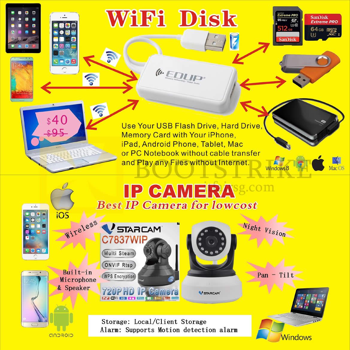 COMEX 2016 price list image brochure of Worldwide Computer Wifi Disk, IP Camera