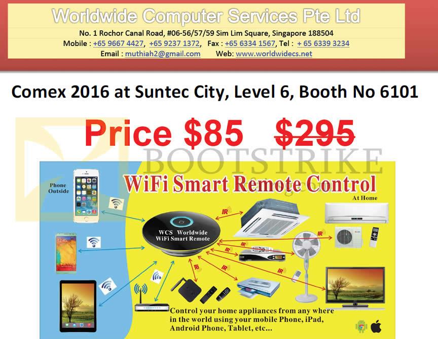 COMEX 2016 price list image brochure of Worldwide Computer Wifi Smart Remote Control