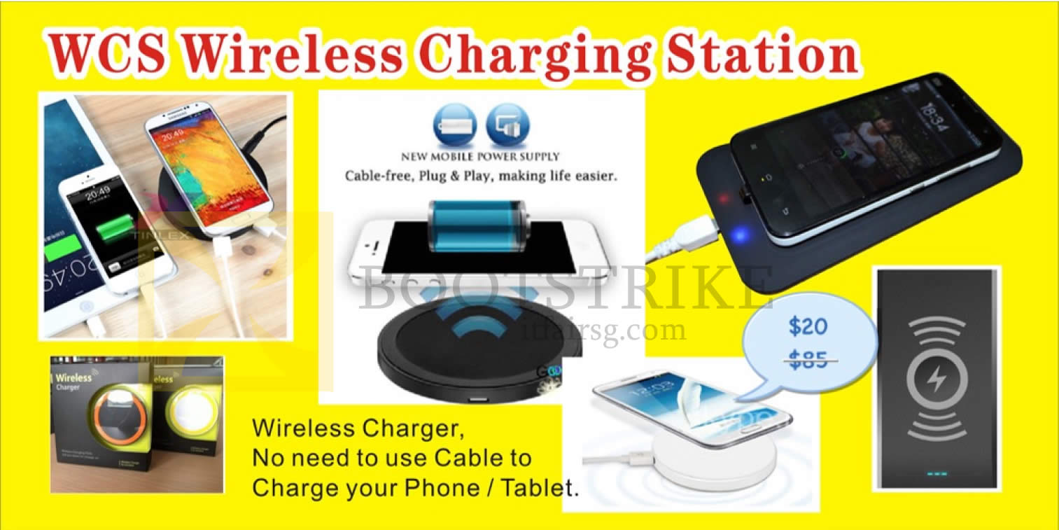 COMEX 2016 price list image brochure of Worldwide Computer Wireless Charging Station