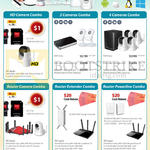 Ace Peripherals D-Link Camera Combos HD Camera, 2 Cameras, Router, Router Extender, Router Powerline Combos