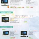 AIO Desktop PCs Aspire Z Prime Z3-715, Slim U5-710, Z1-612, Z3-705