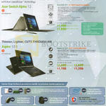 Acer Notebooks Switch Alpha 12 SA5-271, Aspire S13 S5-371, Promotion Bundles