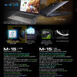 Aftershock Notebooks M-15 Lite, M-15 V2 Edition