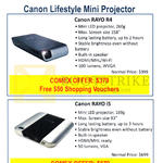 Canon Projectors Lifestyle Mini Rayo R4, Rayo I5