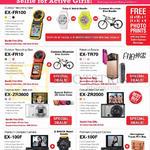 Casio Digital Cameras EX-FR100, FR10, TR70, ZR3600, ZR2000, 100F