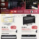 Casio Keyboards GP-300BK, AP-460, PX-860, CTK-1200, CTK-4400