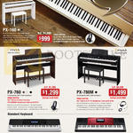 Casio Music Keyboards PX-160, 760, 780M, WK-240, CTK-6250
