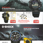 Watches G-Shock Frogman, Gulfmaster, GWF-D1000-1D, D1000B-1D, GWN-Q1000-1A, EX-FR100