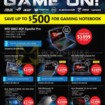 Challenger Notebooks, Lenovo, Asus, MSI, Acer, Dell, Ideapad Y700, ROG GL752VW, GP62 6QF Leopard Pro, Predator 15, Alienware 15, Aspire V Nitro