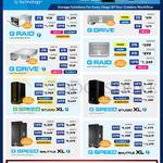 G Technology SSDs G Raid, Drive, Speed Studio XL, Shuttle XL, 2, 3, 4, 6, 8, 10, 12, 16, 18, 20, 24, 32, 36, 48, 60, 64TB