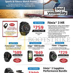 Garmin GPS Activity Trackers, Watches, Fenix 3 HR, 3 Sapphire, Edge 1000 Bundle, ForeRunner 735XT