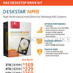 Convergent HGST NAS Deskstar 3TB, 4TB, 6TB