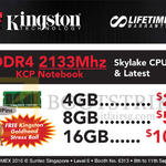 Convergent Kingston DDR4 2133Mhz KCP Notebook 4GB, 8GB, 16GB