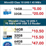 Lexar MicroSD Class 10 UHS-1 16GB, 32GB, 64GB, 128GB