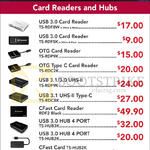 Transcend Card Readers, Hubs, USB 3.0, OTG, Type C, USB 3.1, CFast