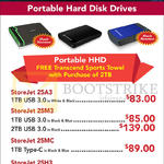Convergent Transcend Portable Hard Disk Drives StoreJet 25A3, 25M3, 25MC, 25H3