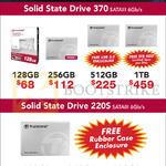 Transcend SSD370, SSD220S 120GB, 128GB, 240GB, 256GB, 480GB, 512GB, 1TB