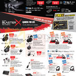 Sound Blaster Headphones, Earphones, Cables, Sound Cards, Amplifier, E5, E3, H7, H5, Evo ZxR, Zx, H3, P5, G1, SB Inferno, SB Blaze, G5, Alpha Red, R3