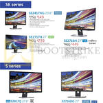 Dell Monitors SE2417HG, SE2717H, SE2716H, S2817Q, S2716DG