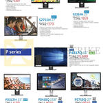 Monitors UHD S2216H, S2715H, S2316H, P4317Q, P2317H, P2415Q, P2715Q