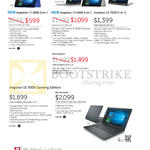 Notebooks Inspiron 11 3000, 13 5000, 15 7000, Gaming Series