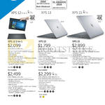 Notebooks XPS 12, 13, 15 Series