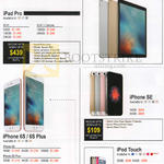 Tablets, Mobile Phones Apple IPad Pro, IPhone SE, IPhone 6s, 6s Plus, IPod Touch