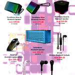 ISound Speaker, Earbuds, Durawaves Glow XL, Glow, Road Talk, SonicWaves, BT-150, EM55, EM-300