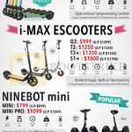 Inokim Light, I-Max EScooters Q3 T3 S1, Ninebot Mini Scooter, Mini Pro