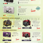 (No Prices) Digital Cameras Finepix X30, XQ1, S1, S9400W, T500, F850EXR, XP80