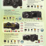 Fujifilm Digital Cameras X-T2, X-PRO 2, X-T1, X-T10, X-E2S