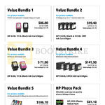 Ink Cartridges Bundle Promotions 1, 2, 3, 4, 5, HP Photo Pack