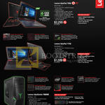 Notebooks IdeaPad Y900, Y700, Desktop PC Razer Y900RE