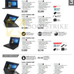 Notebooks ThinkPad Classic T460s, T460, X260, Edge E460