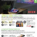 Tablets Yoga Tab 3 Pro, Tab 3 8