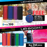 Ultimate Ears UE Bluetooth Speakers Megaboom, Roll, Boom 2