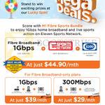 44.90 1Gbps Fibre Broadband, 39.00 1Gbps, 29.00 300Mbps Fibre Broadband