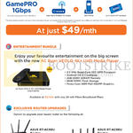 M1 49.00 GamePRO 1Gbps, Entertainment Bundle, Routers, Asus RT-AC68U, RT-AC88U