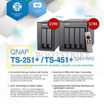QNAP NAS TS-251 Plus, 451 Plus Series