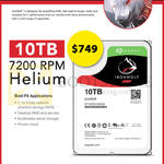 Seagate Ironwolf 10TB 7200RPM Helium