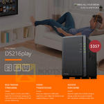 Memory World Synology NAS Diskstation DS216play