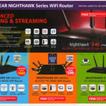 Netgear Wireless Routers Nighthawk X4S, X8, X6, X3