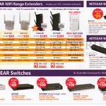 Netgear Wireless Wifi Routers Extenders, Adapter, Switches, EX2700, EX3700, EX6120, EX6200, EX7000, Ex7300, R6220, A6210, GS205, GS308, GS308P, GS316, GS324