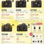 Nikon DSLR Digital Cameras D750, D500, D7200, D5500, D3300