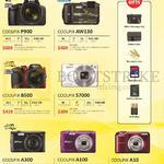 Nikon Digital Cameras Coolpix P900, AW130, B500, S7000, A300, A100, A10