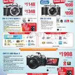Olympus Digital Cameras OM-D E-M10, Mark II, Om-D E-M5 Mark II