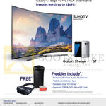 Samsung TV (No Prices) Galaxy S7 Edge, Free Items With Purchase