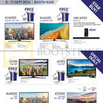 Samsung TVs (No Prices) KU6000, KU6500, HW-K430, J5200, J4303, KS7500